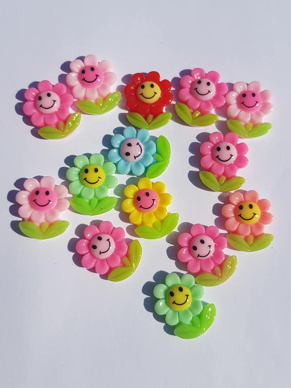 Happy Flower Cabochons 20mm