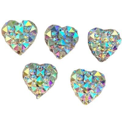 Heart Cabochons, Rhinestone Flatbacks, 12mm,