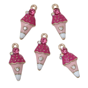 Gold Plated Ice-Cream Charms