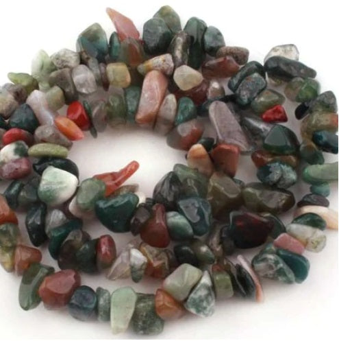 Indian Agate Bead Nugget Strand