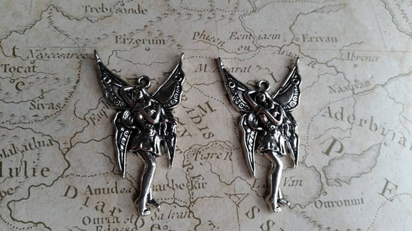 Large Fairy Charms, Silver Fairy,