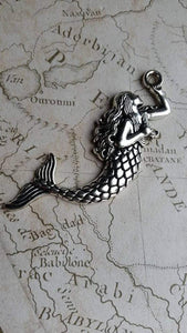 Large Silver Mermaid Pendant