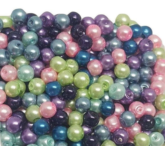 Mermaid Beads, Mermaid Pearls, 4mm Glass Beads,
