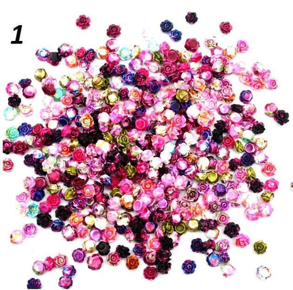 Miniature Flowers, Tiny Flowers, Nail Flower, 5mm Flower, 5mm Cabochons,