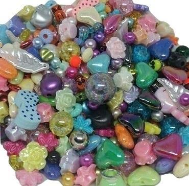 Mixed Beads, Bead Soup, Bead Pack, Bead Collection, Wooden Beads, Glass Beads, Large Beads, Plastic Beads, Colourful Beads, Novelty Beads,