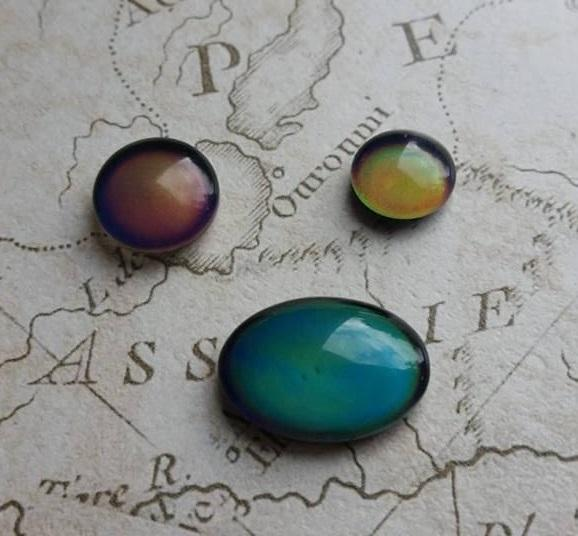 Mood Stones, Mood Cabochons, Mood Ring, Colour Change, Mood Dome, Jewellery Mood, Temperture, Heat, 12mm Cabochons, Unique Cabochons,