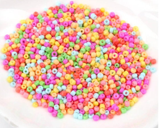 2mm Neon Seed Beads