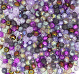 Purple 6mm rondelle beads