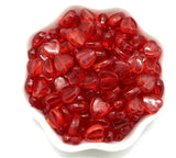red heart beads