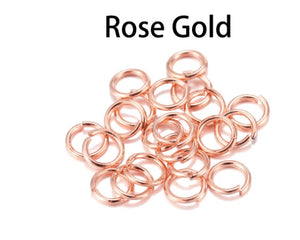 Rose Gold Jump Rings, 4mm, 5mm and 6mm