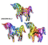 Sequin Unicorn, Sequin Heart, Sequin Butterfly, Padded Shapes,