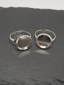 Silver, Cabochon Ring Blanks - 10mm