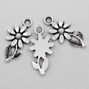 Silver Flower Charms,