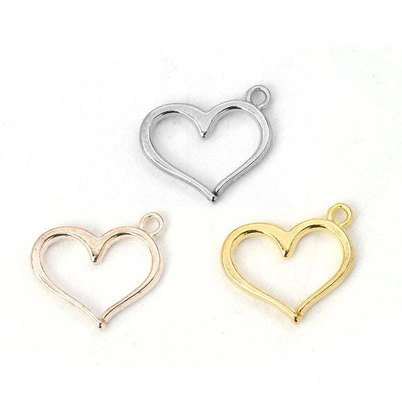 Silver or Gold Heart Charms