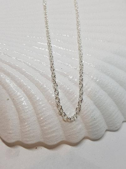 Silver Plated Necklace, 22 inches,