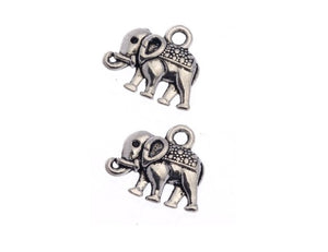 Silver Elephant Charms
