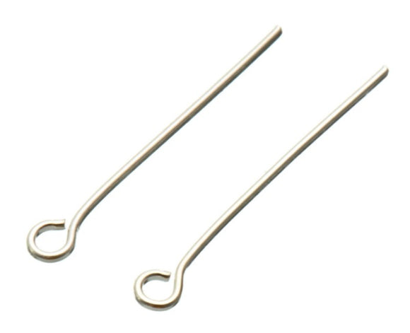 Silver 50mm Eye Pins