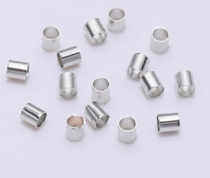 silver crimp end beads