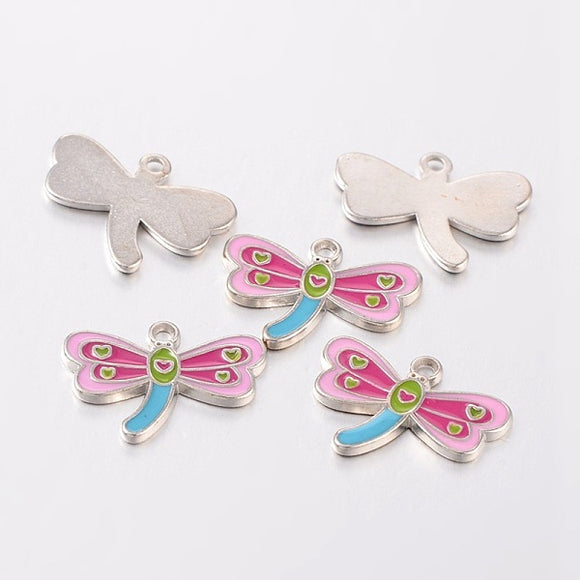 Dragonfly Enamel Pendants