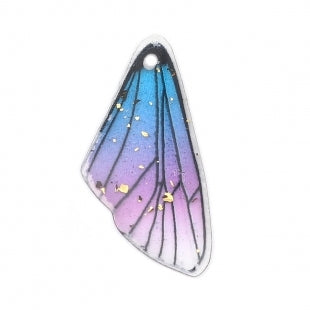 Small Resin Wing Pendants with Gold Fleck 50mm x 16mm