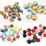 Stripe Cabochon Flatbacks - Size 12mm