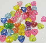 Triangle Beads, Foil Beads, Acrylic Beads,
