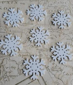 White Wooden Snowflakes, Christmas Shapes,
