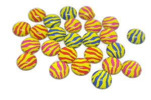 Zebra Print Glass 12mm Cabochons