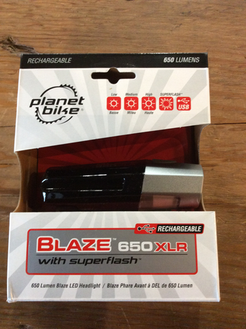 Planet Bike Blaze 650 xlr light