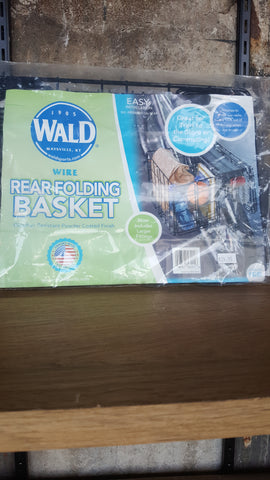 Wald wire rear folding basket