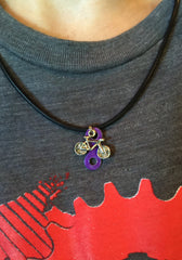 Broken Spoke Bike Necklace