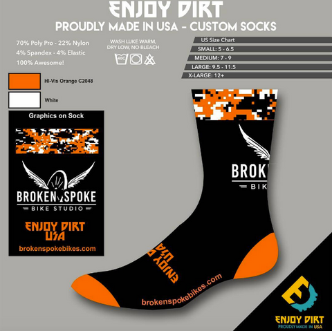 Broken Spoke Men's Socks