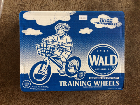 Wald training wheels for 16-20 inch