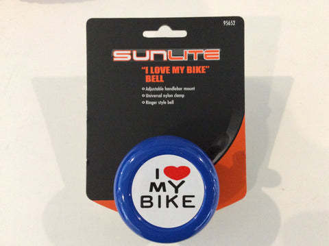 Sunlite I Love My Bike Bell blue
