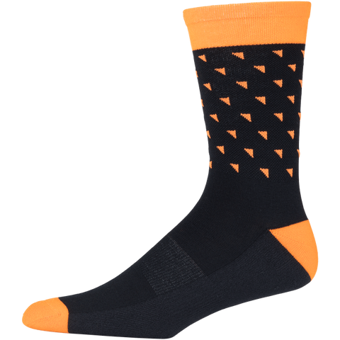 45NRTH Midweight Sock Black/Orange Triangles