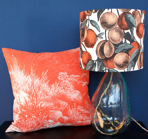 'Fruits' Lampshade - Coral
