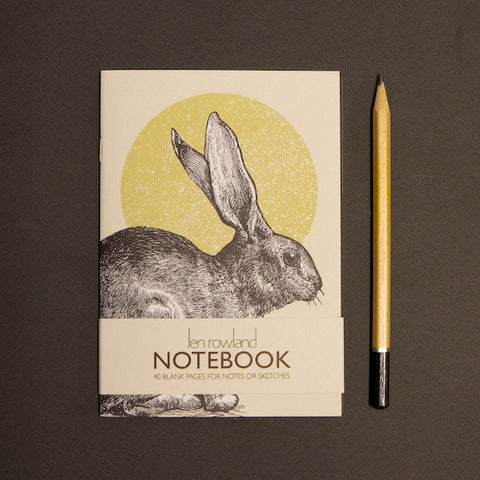 Woodland Animals A6 Notebook - Rabbit