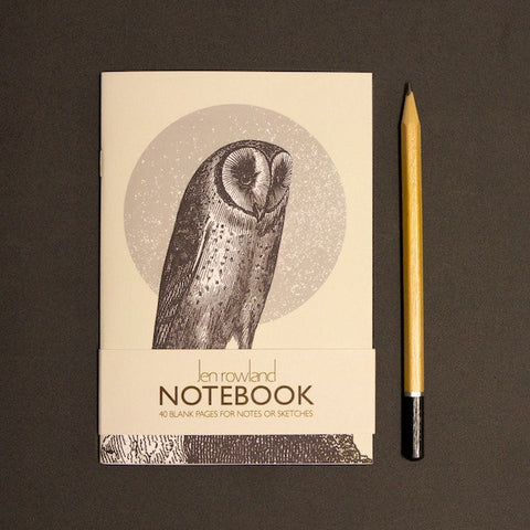 Woodland Animals A6 Notebook - Owl