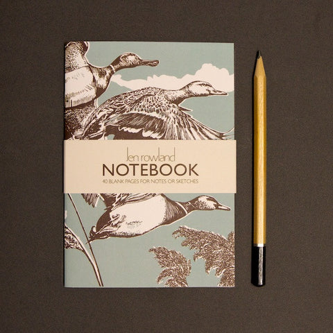 Flying Ducks A6 Notebook - Duck Egg