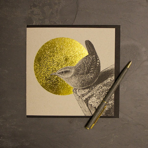 Wren & Sun Foiled Greetings Card