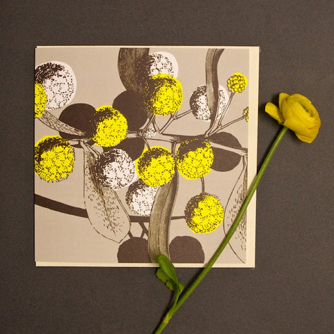 'Yellow Acacia' Greetings Card
