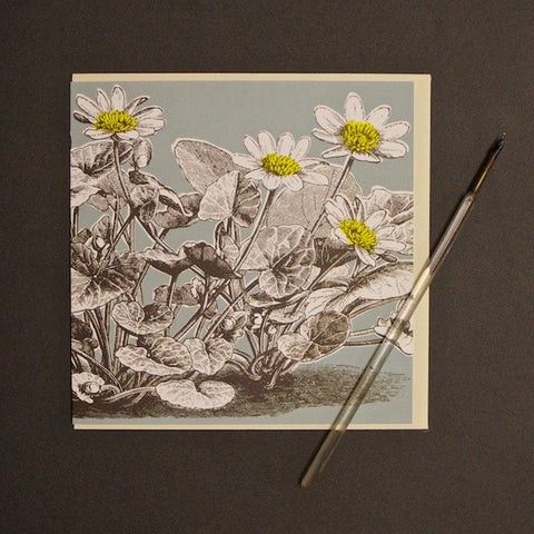'Buttercup - Duck Egg' Greetings Card