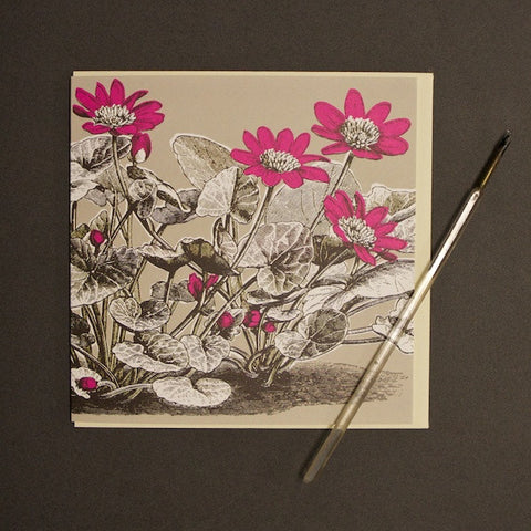 'Buttercup - Bright Pink' Greetings Card
