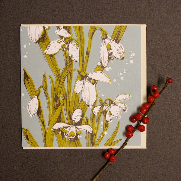 'Snowdrops' Greetings Card