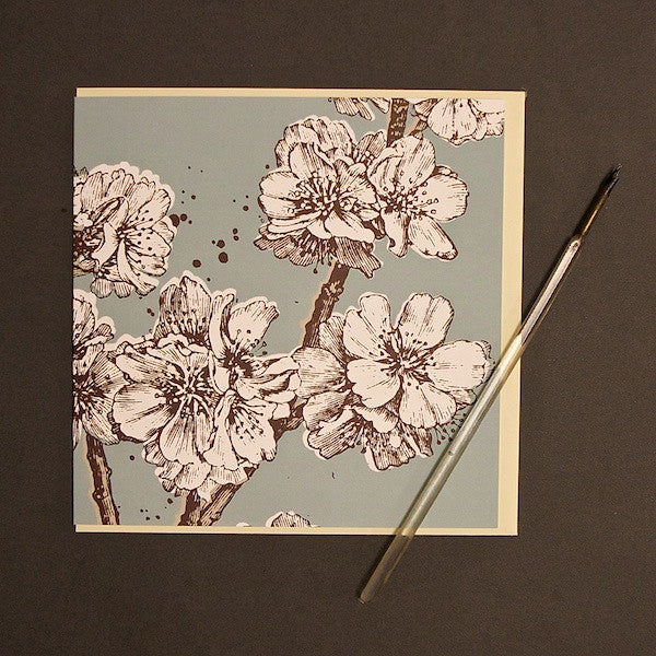'Blossom - Duck Egg' Greetings Card