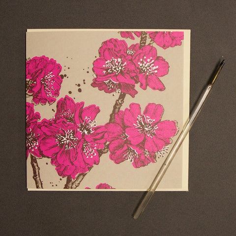 'Blossom - Bright Pink' Greetings Card