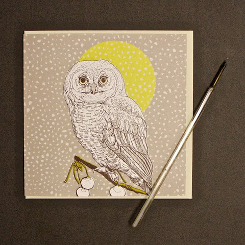'Owl - Daytime' Greetings Card