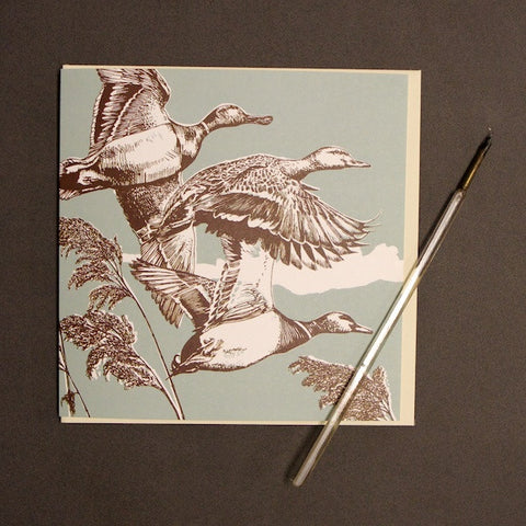 'Flying Ducks' Greetings Card
