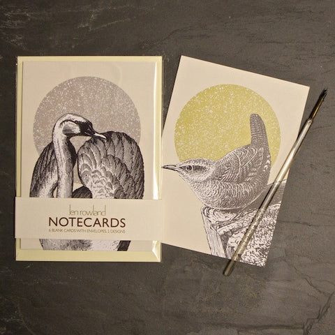 Set of 6 Notecards - Swan & Wren