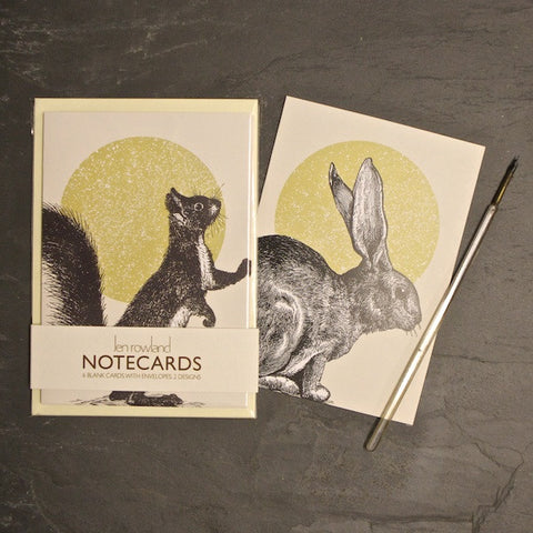 Set of 6 Notecards - Rabbit & Squirrel